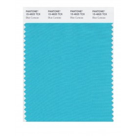Pantone 15-4825 TCX Swatch Card Blue Caracao