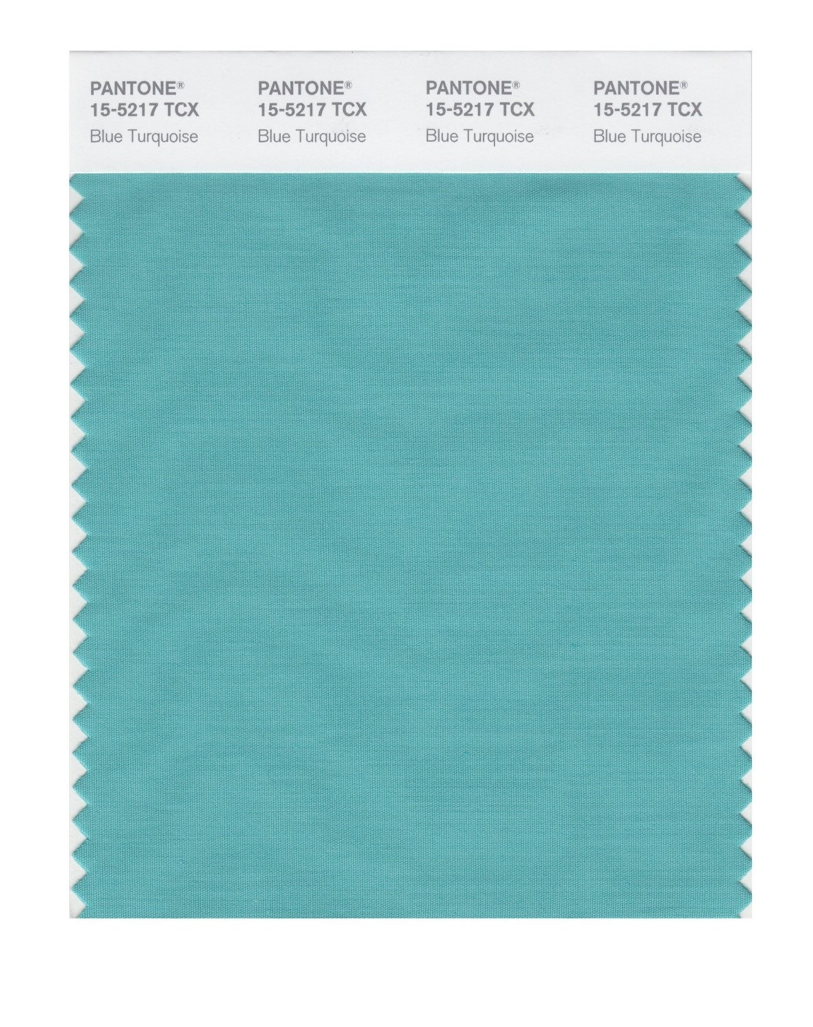 Pantone 15-5217 TCX Swatch Card Blue Turquoise
