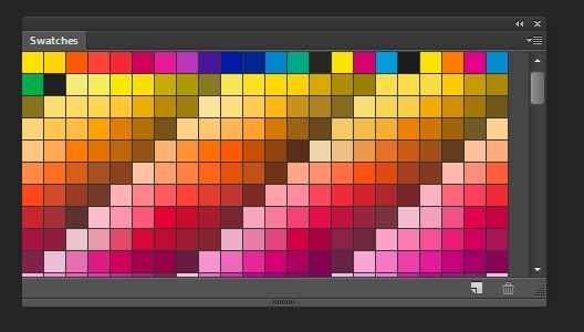 process and global pantone color swatches in illustrator design