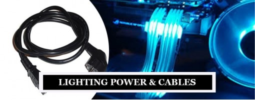 Photography Lighting Cables & Power Supply for Photoshoot