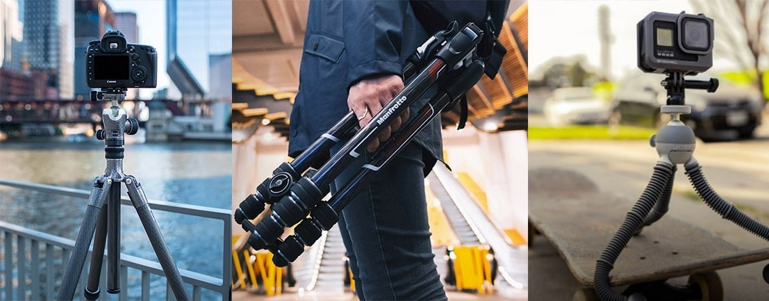 Professional Tripod & Monopods | Handheld, Portable & Afforable Tripods & Monopod Kits