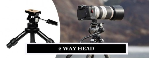 Photography Tripods with 2-Way Heads from Manfrotto, Gitzo, Benro, Sirui & E-Image