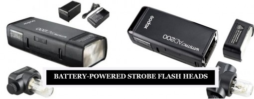 Battery-Powered Strobe Flash Heads for Photography - LED Flash