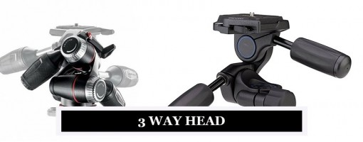 Manfrotto 3-Way Heads for Tripods - Light, Durable and Strong