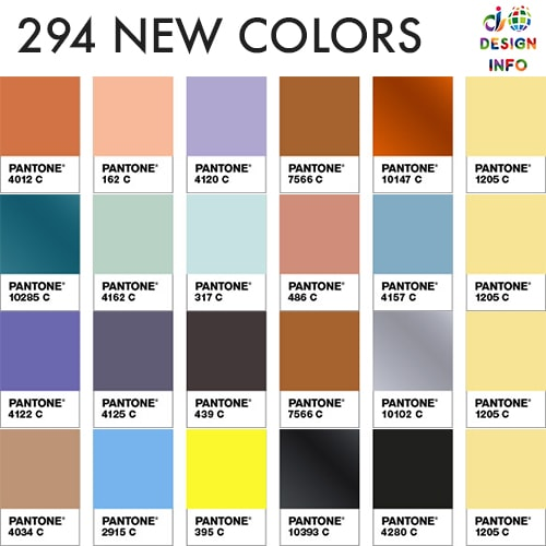 Pantone Formula Guide 2019 New Colors 294