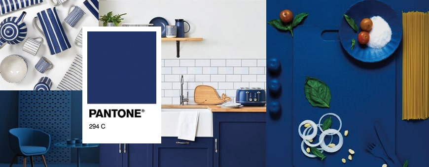 Pantone 294c solid blue color