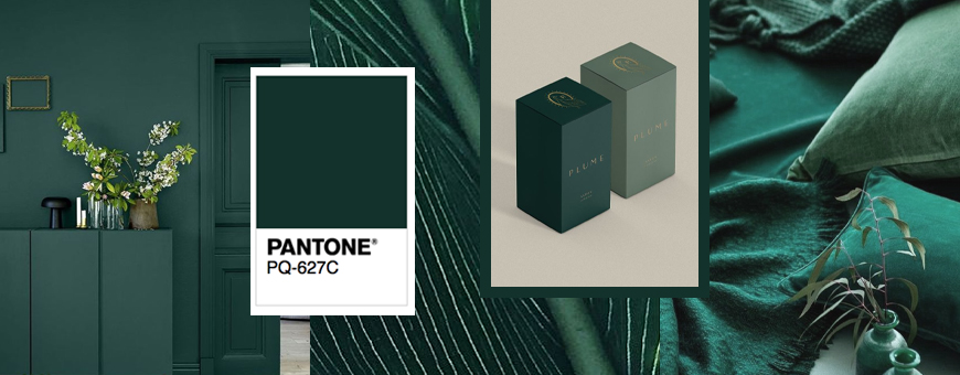 pantone green packaging, pantone green box, pantone green covers